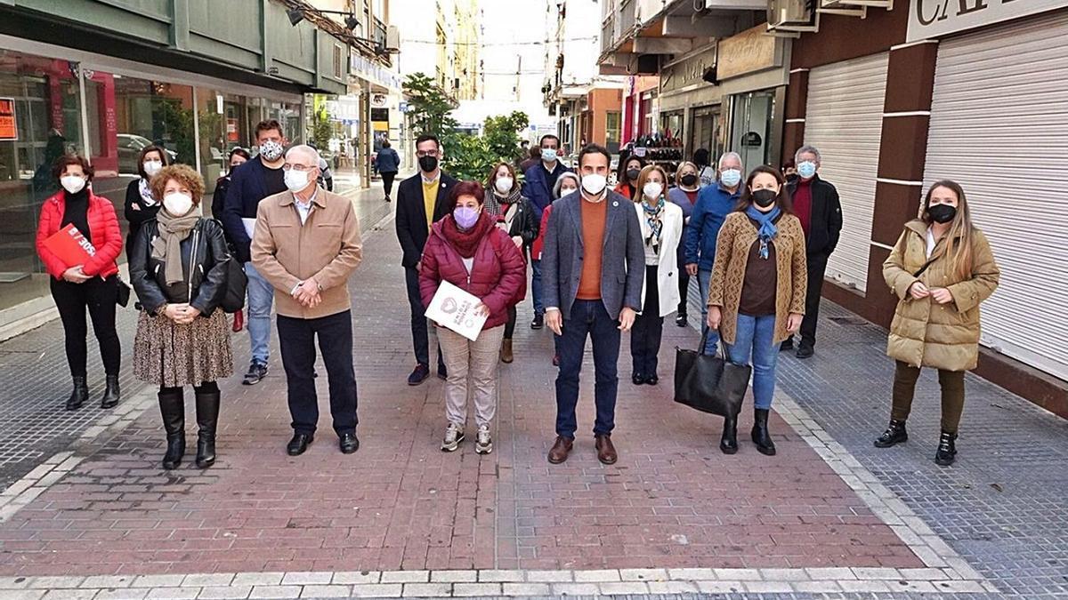 Rueda de prensa ofrecida ayer por la oposición.