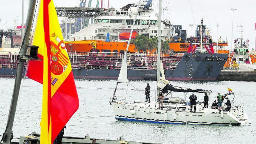 Un velero deja 1.200 kilos de cocaína en Las Palmas, por un valor de 40 millones