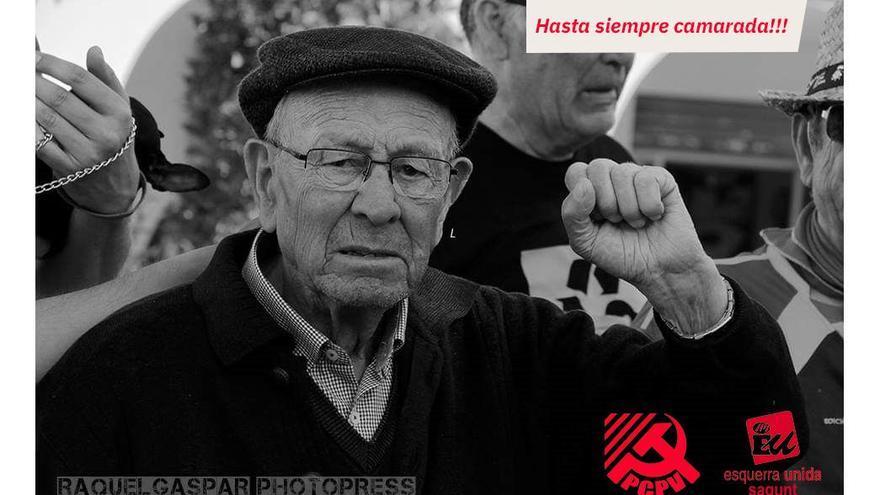 Fallece el histórico sindicalista Ginés Zaplana
