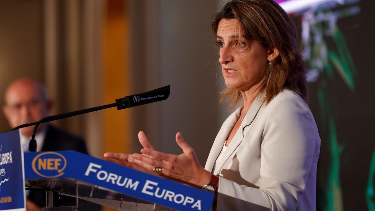 La vicepresidenta y ministra de Transición Ecológica, Teresa Ribera.