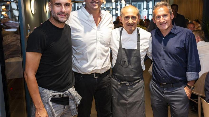 Paco Pérez obre a Manchester el Tast, amb Pep Guardiola i Txiki Begiristain de socis