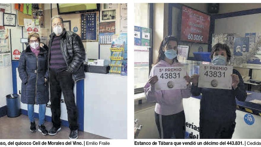 Un quinto premio del Sorteo de Navidad reparte 12.000 euros entre Morales del Vino  y Tábara