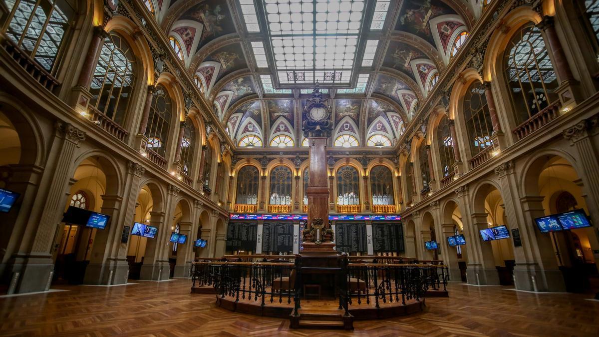 Una imagen del interior del Palacio de la Bolsa.
