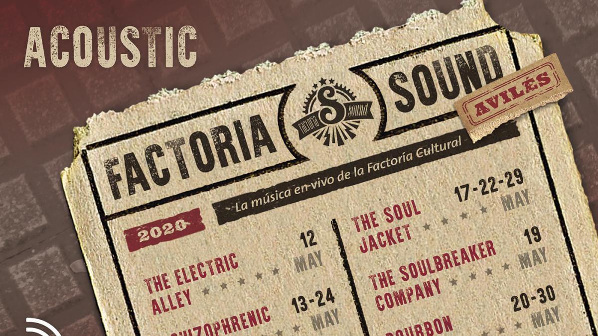 Cartel del ciclo Factoría Sound Acoustic.