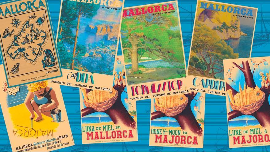 'Mallorca Vintage', los pósteres antiguos del Fomento del Turismo en una colección