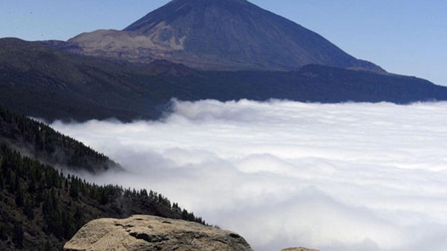 Conato de incendio forestal en el Parque Nacional del Teide