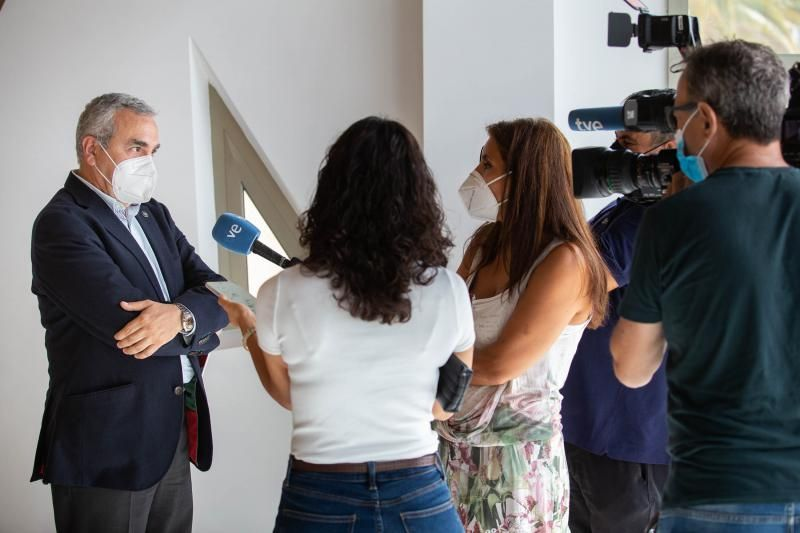 Rueda de prensa del consejero delegado de Gesplan, Agoney Piñero