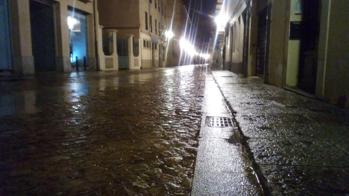 La Rúa de los Francos, esta mañana de lunes.