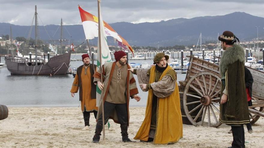 El hecho histórico vuelve a la arena de la playa Ribeira