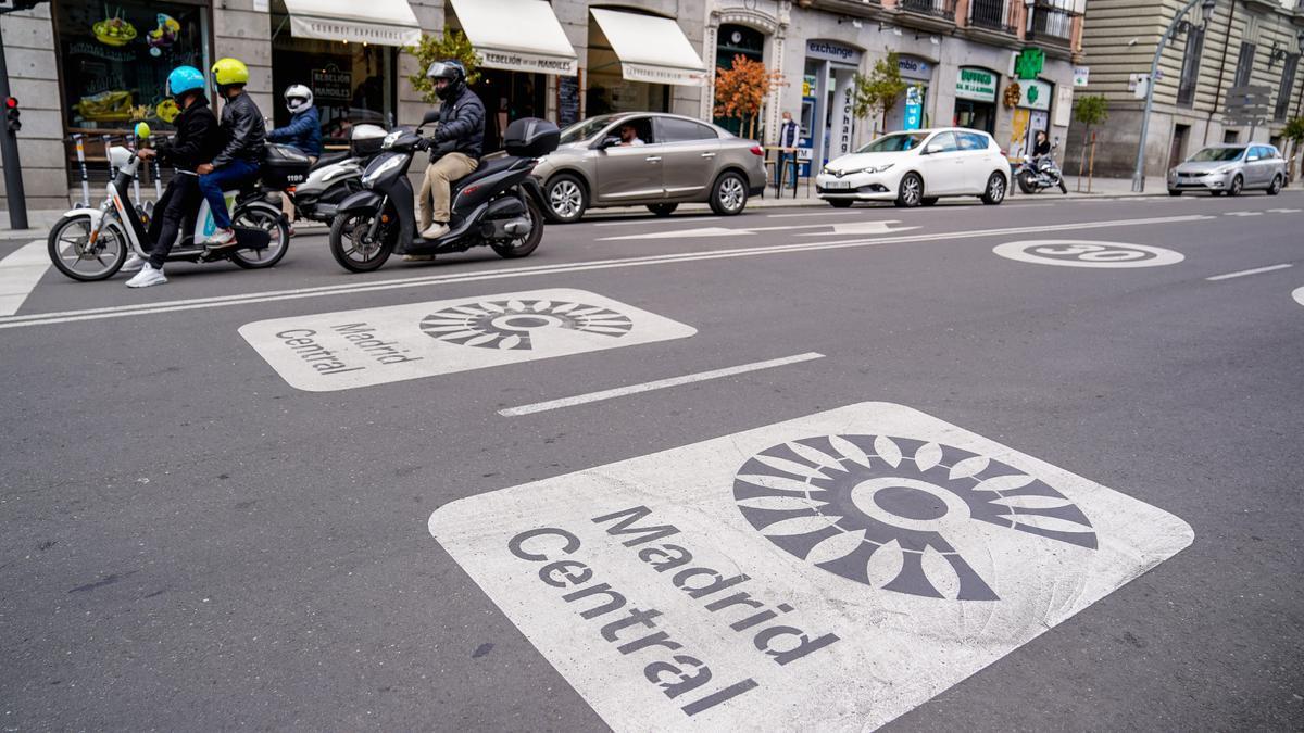 Una de las calles de Madrid Central.