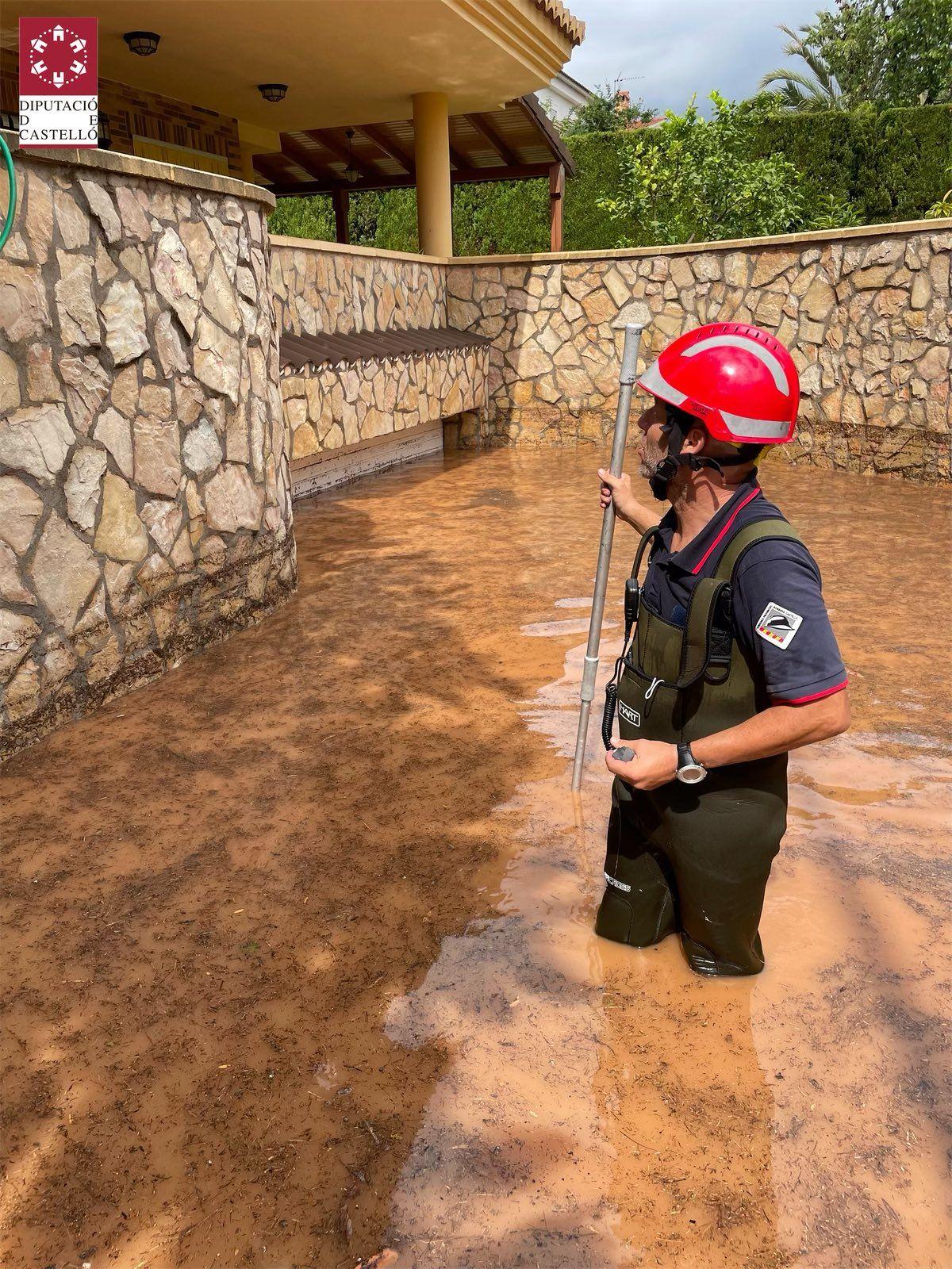 Benicàssim anegada tras caer más de 100 litros por metro cuadrado en cuatro horas