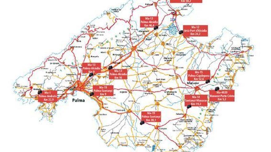 Radarfalle auf der Straße Richtung Calvià blitzte 26.704 Raser
