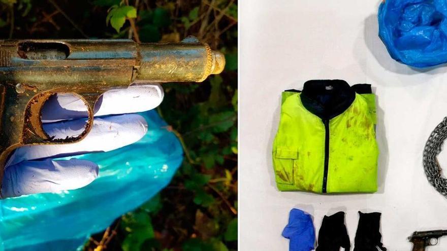El detenido por el homicidio de Oza llevaba en una bolsa grilletes, una cadena metálica y candados