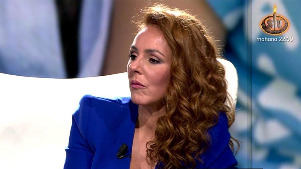 Rocío Carraco, durante su entrevista en Telecinco.