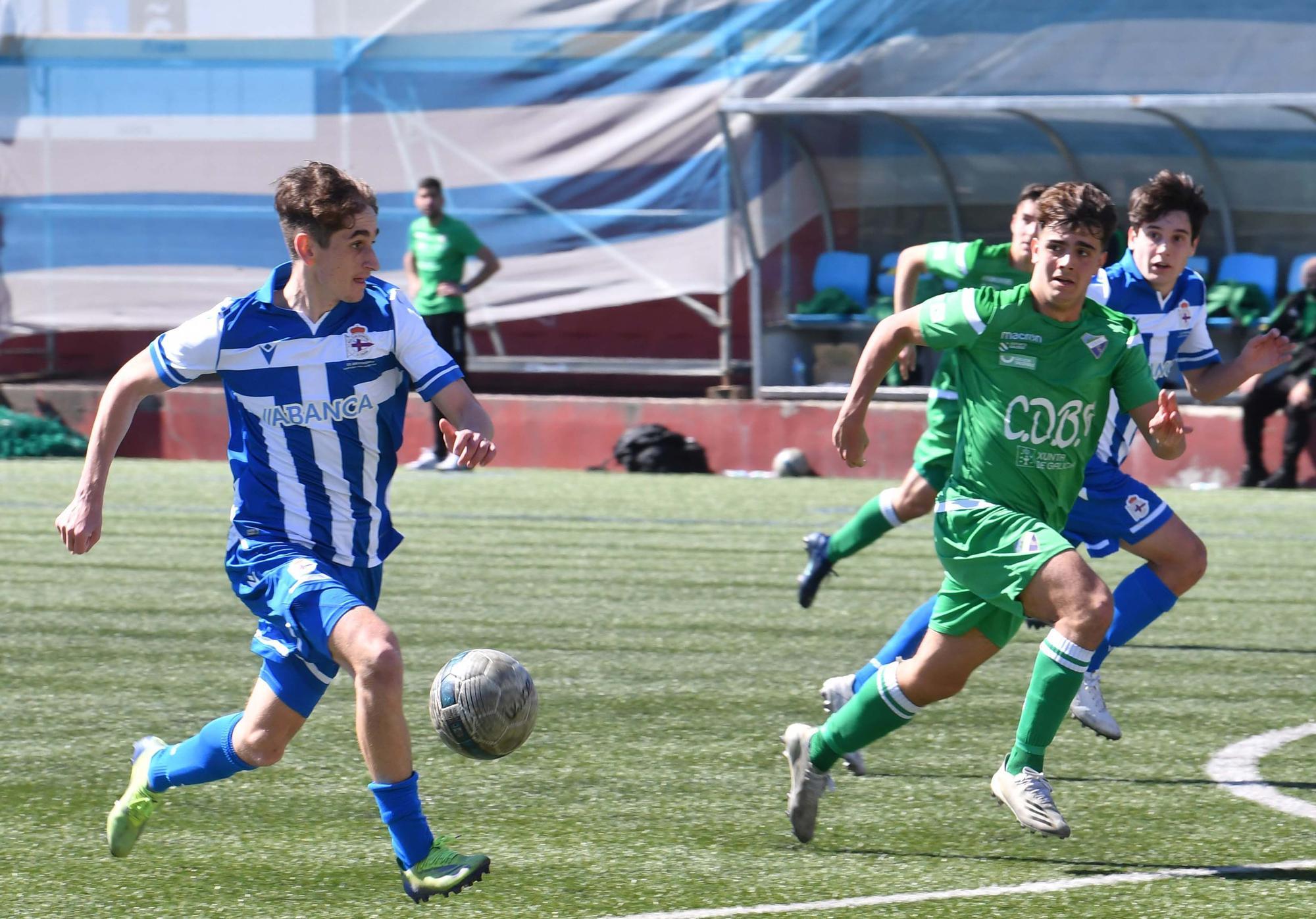 El Dépor juvenil le gana 0-2 al Calasanz y se impone en la fase gallega de la División de Honor