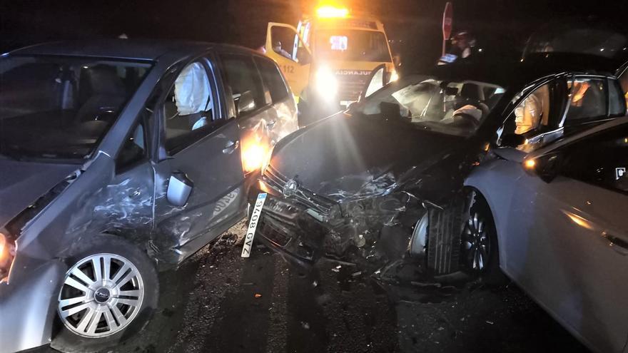Accidente múltiple en la N-630 de Zamora con tres coches implicados y tres heridas