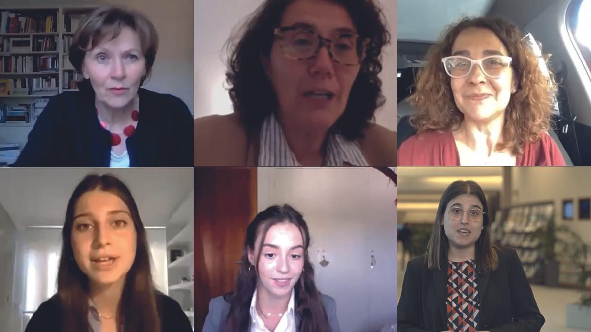 Sylvie Kauffmann, Mercè Pomar i Busqueta, Teresa Coutinho, Beatriz De Cáceres, Irene Ruiz Bozo y Alicia Homs Ginel,