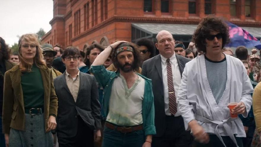 'El mundo entero está mirando', el tráiler de 'El juicio de los 7 de Chicago', lo nuevo de Aaron Sorkin