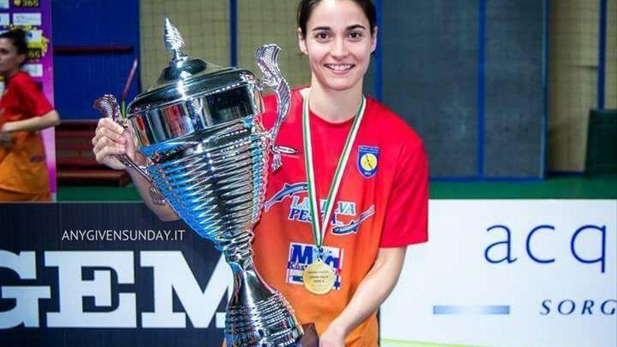 La aragonesa Eva Ortega conquista el 'scudetto' de fútbol sala