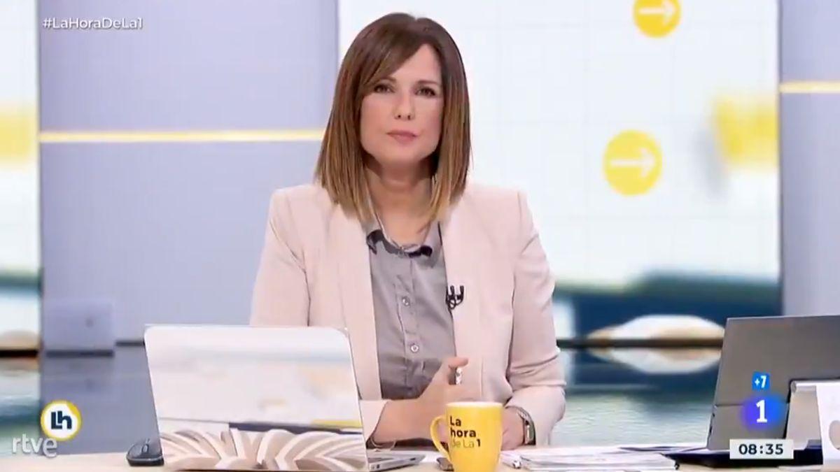 Mónica López in 'La hora de La 1'.