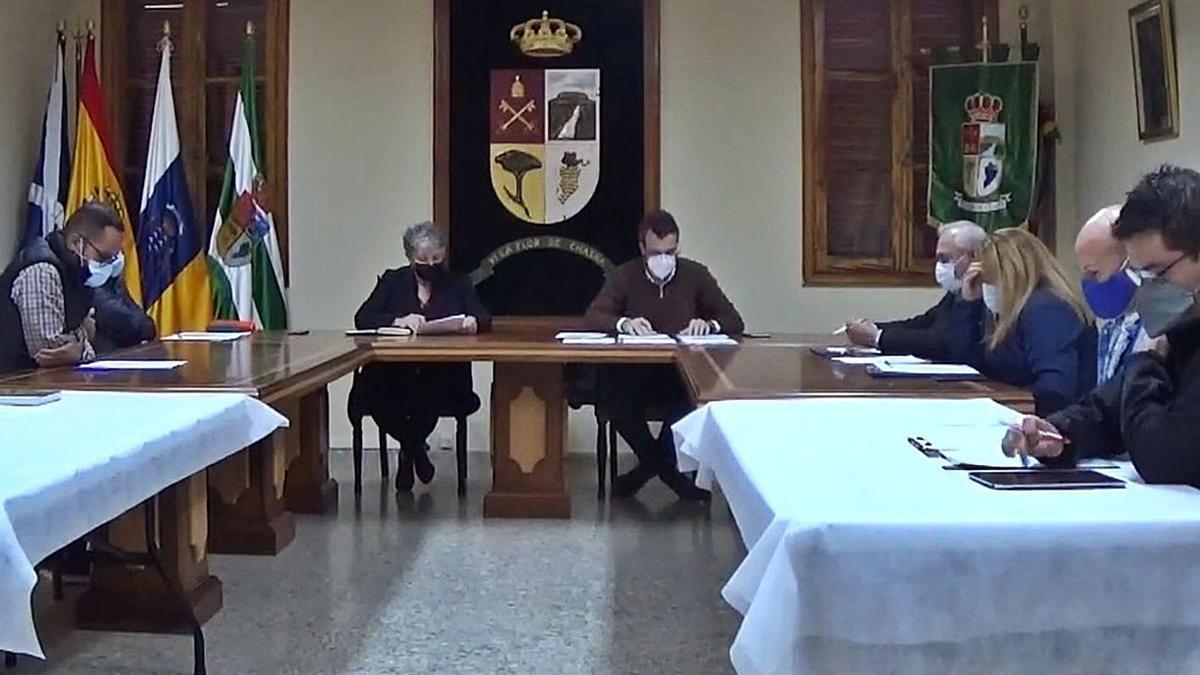 Pleno del Ayuntamiento de Vilaflor.     E.D.