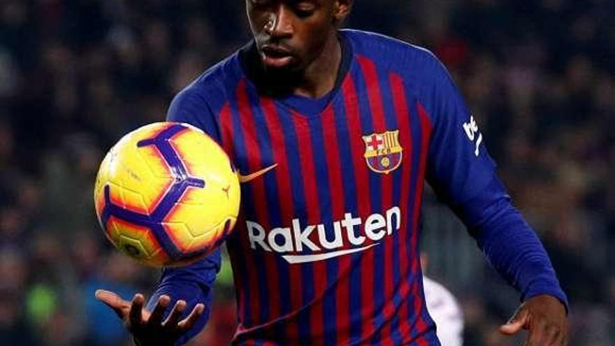 Valverde apura la opción de contar con Dembélé en Old Trafford