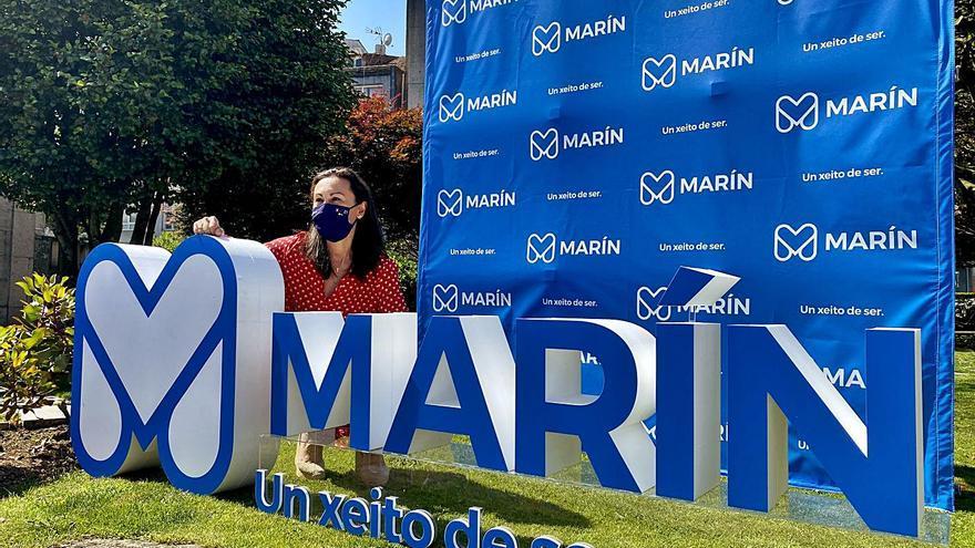 La M como emblema de Marín