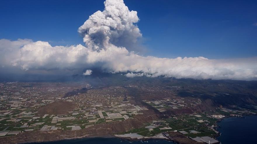 Erupción volcánica: Imágenes aéreas de la zona afectada