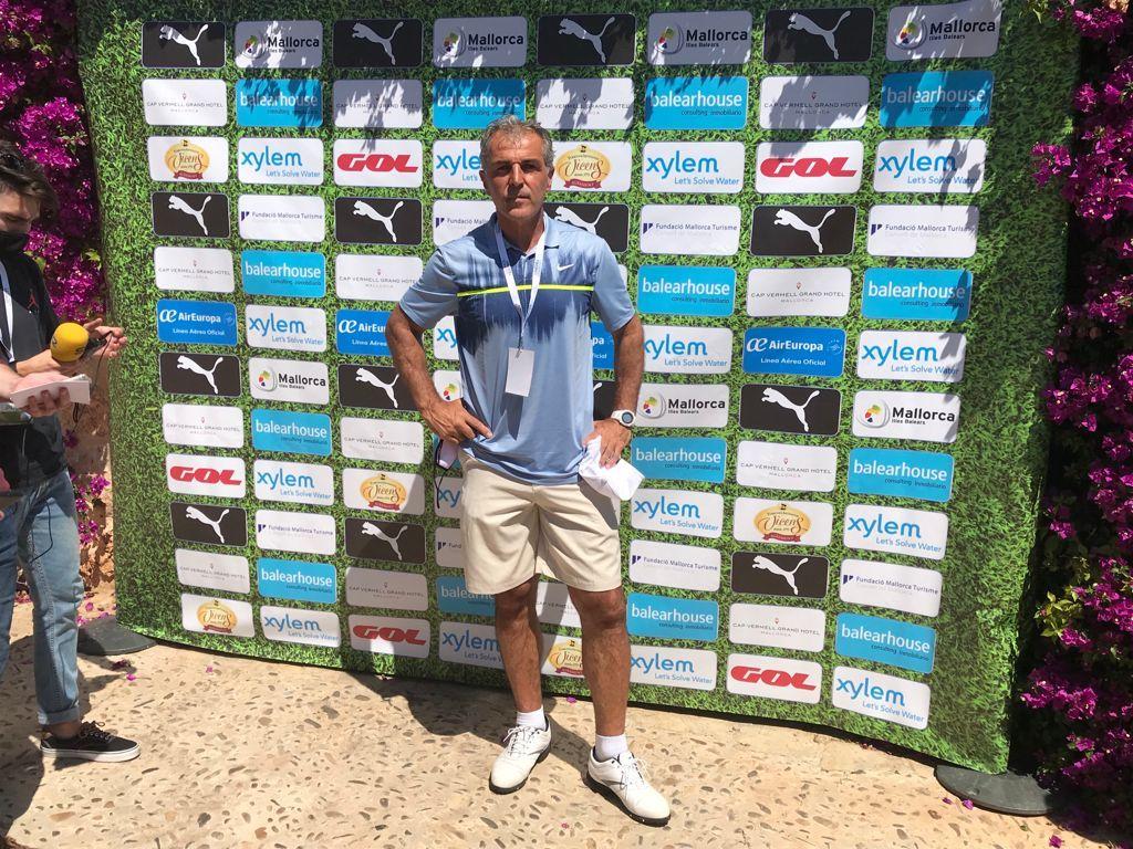 Guardiola, Laporta, Platini y Alemany en el primer día del Legends Trophy en Son Servera