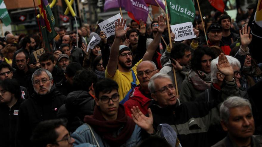 Manifestació a Madrid per la llibertat dels «presos polítics» catalans
