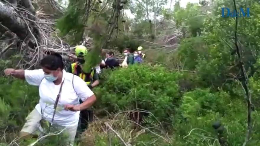La Guardia Civil rescata a varias personas atrapadas por el 'cap de fibló' en Banyalbufar