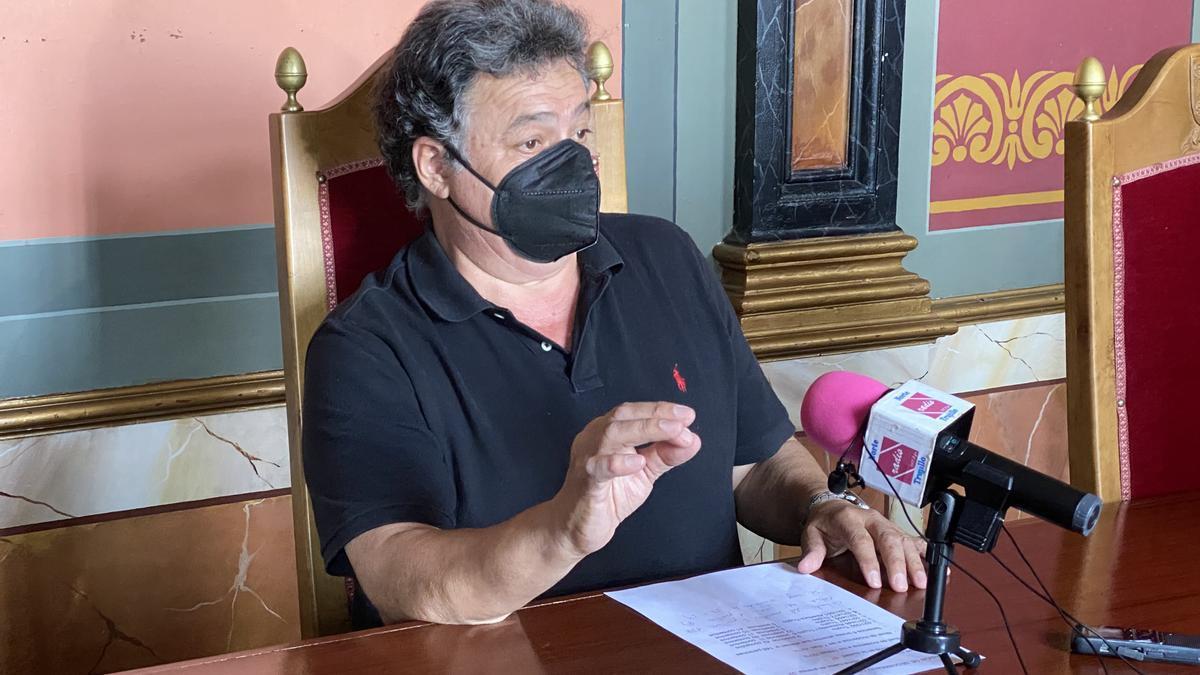 José Antonio Redondo, alcalde de Trujillo, en su comparecencia de ayer.
