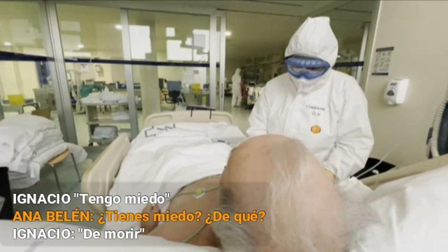 El emotivo reencuentro en planta de una enfermera gallega con el paciente que atendió en la UCI