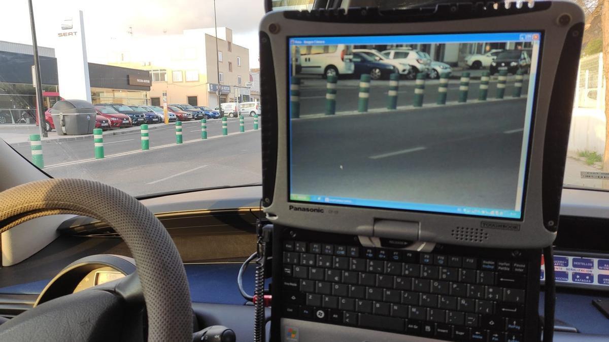 Radar de velocidad de la Policía Local de Ibiza.