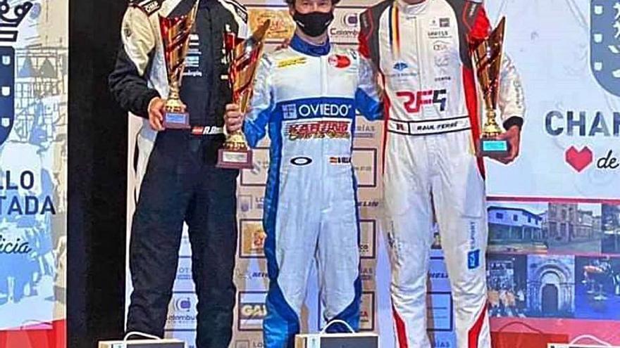 El estradense Adrián Rozados logra subir al podio en la Subida a Chantada