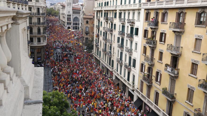 Arrenca la manifestació de la Diada sota el lema 'Lluitem i guanyem la independència'