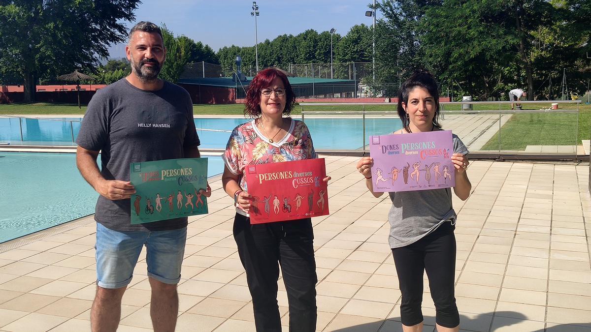 Presentació de la campanya a la piscina de Sant Fruitós de Bages