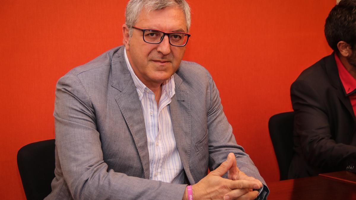 El alcalde de Agres, Josep Manuel Francés.