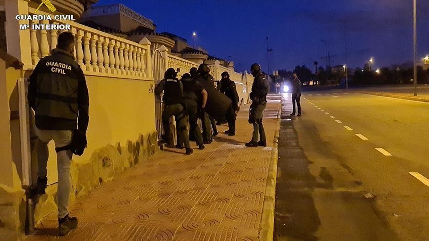 Seis detenidos en la provincia de una red vinculada a narcos de Europa central
