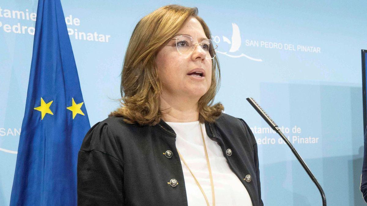 La alcaldesa de San Pedro, Visitación Martínez.