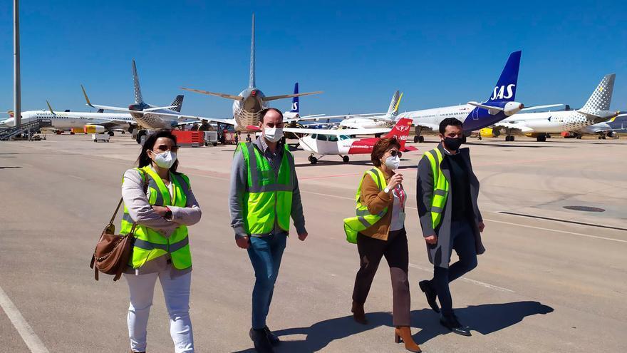 El Ayuntamiento de Sagunt atiende a los proyectos que el aeropuerto de Castelló tiene en marcha