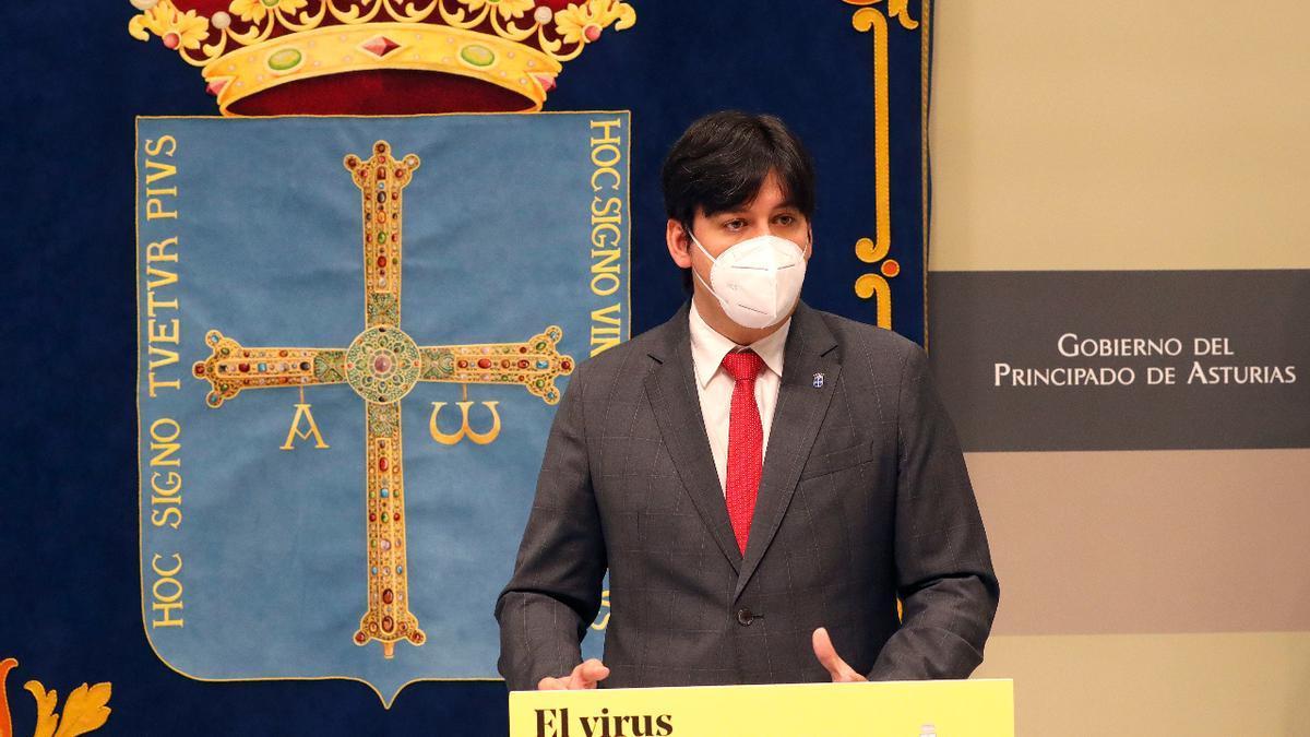 Rueda de prensa tras el Consejo de Gobierno.
