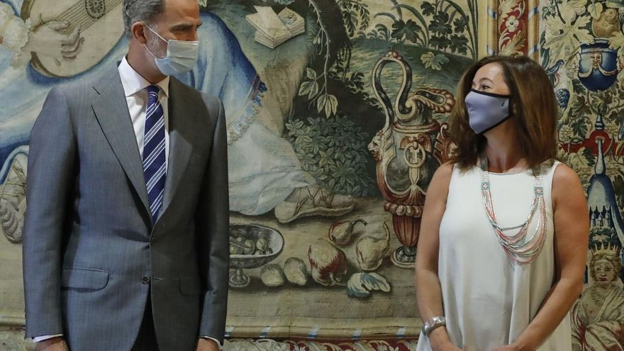 Kein Wort über den Vater: König Felipe VI. trifft politische Würdenträger in Palma