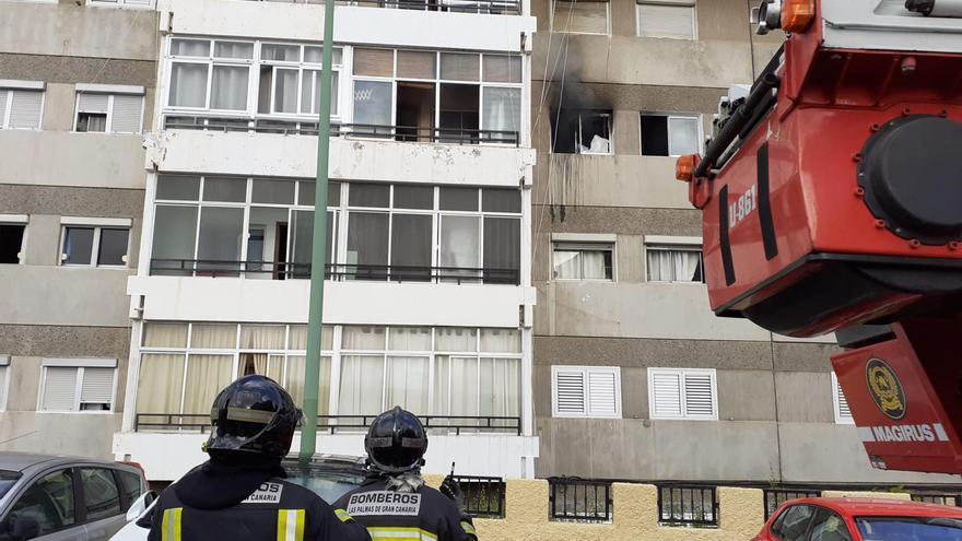 Incendio en el barrio de La Paterna