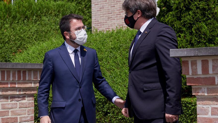 Aragonès y Puigdemont mantienen un encuentro en Waterloo
