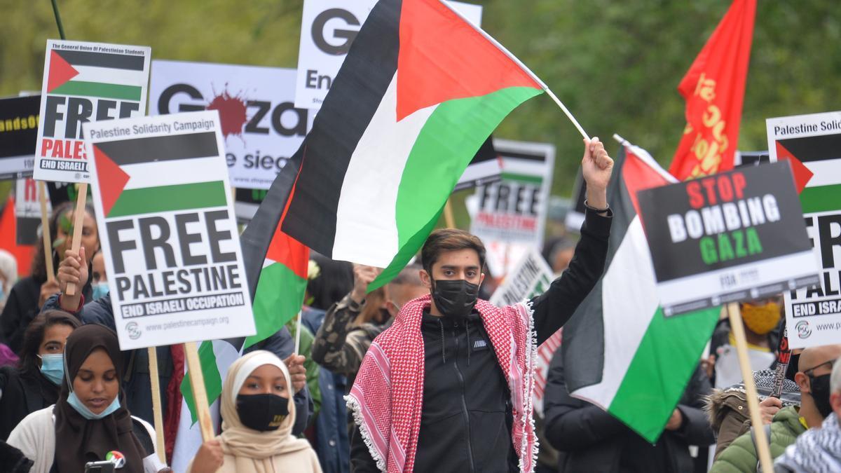 Manifestación propalestina en Londres