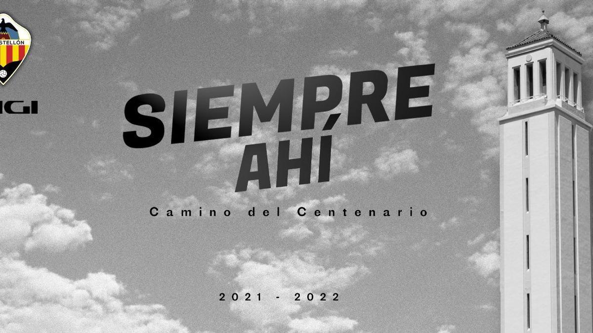 El lema de la campaña de abonos del CD Castellón 2021/22.