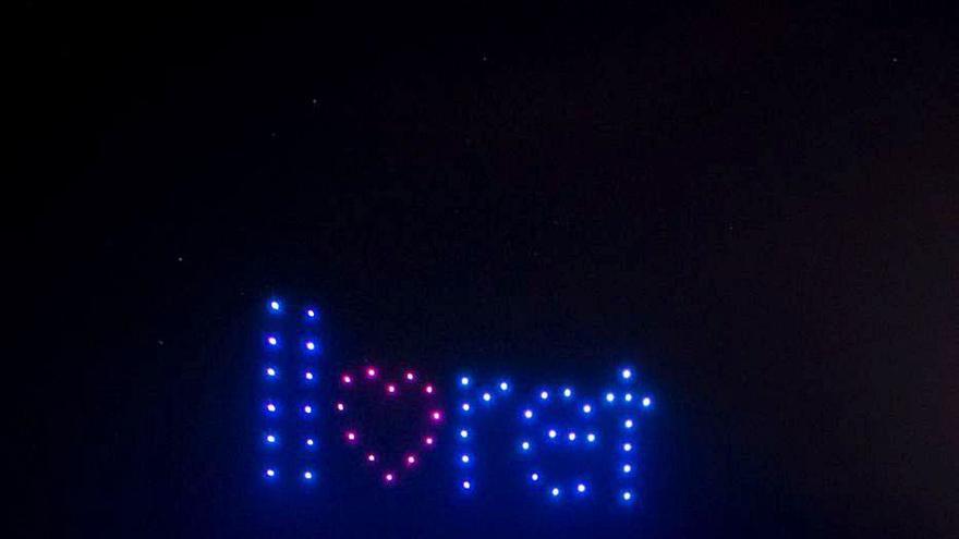 Lloret estrena un espectacle permanent de llums amb drons