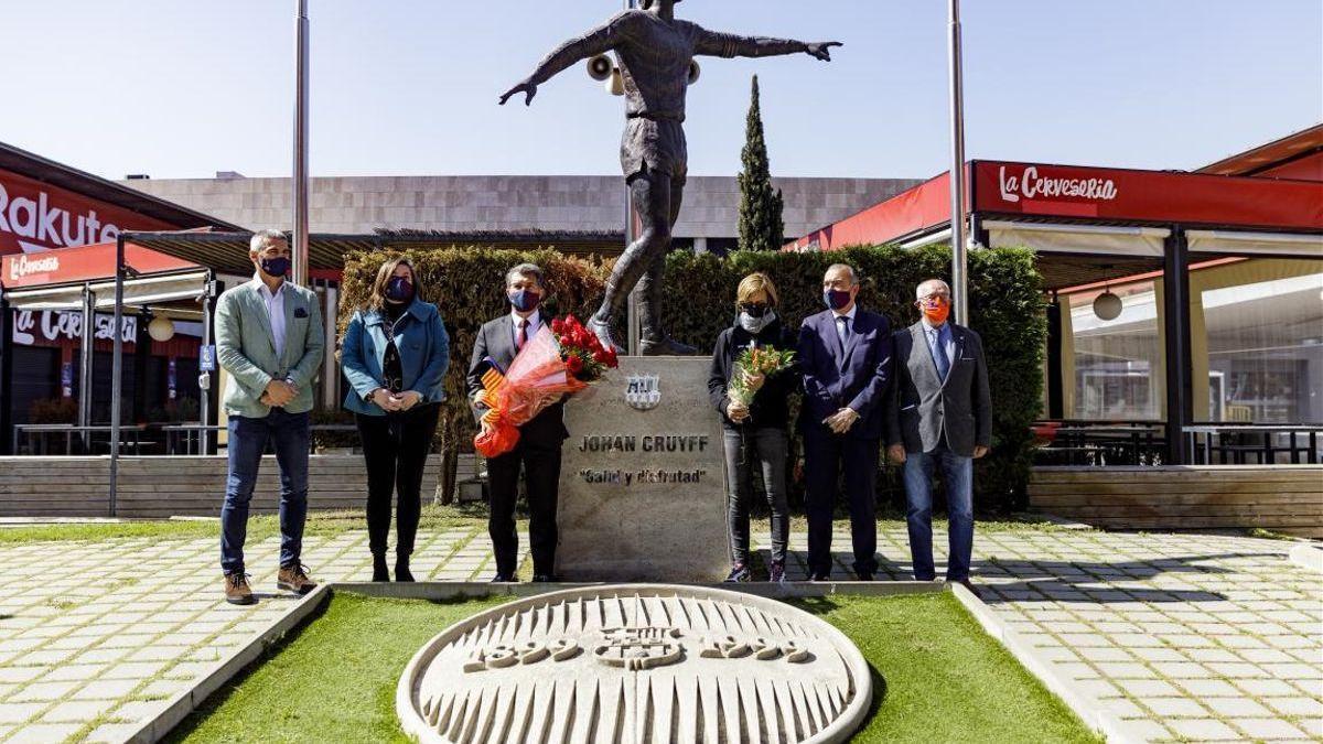 El Barça homenajea a Johan Cruyff a los cinco años de su muerte