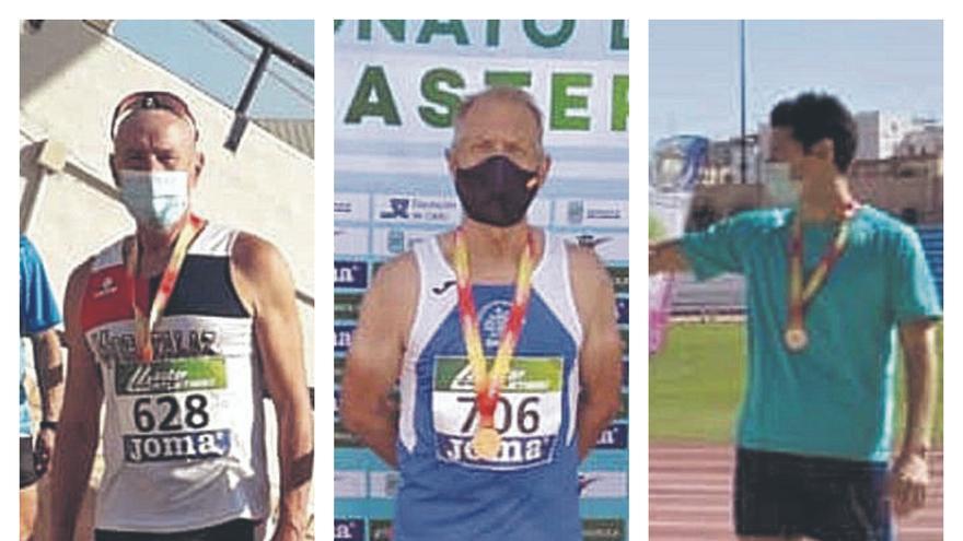 Lluvia de medallas en el Máster de atletismo